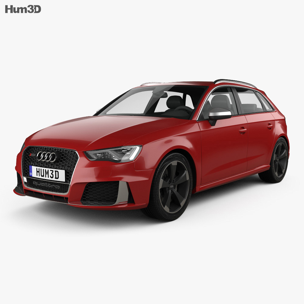 audi rs3 sportback 2015 3d model humster3d. Black Bedroom Furniture Sets. Home Design Ideas