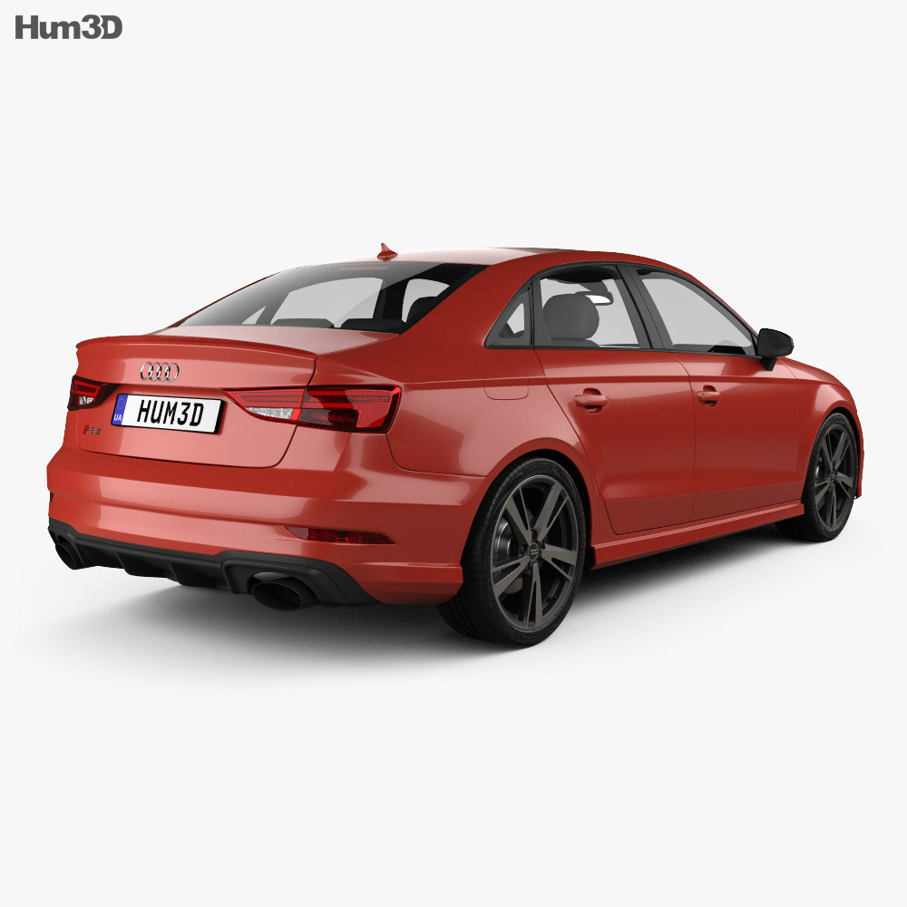 audi rs3 sedan 2017 3d model hum3d. Black Bedroom Furniture Sets. Home Design Ideas