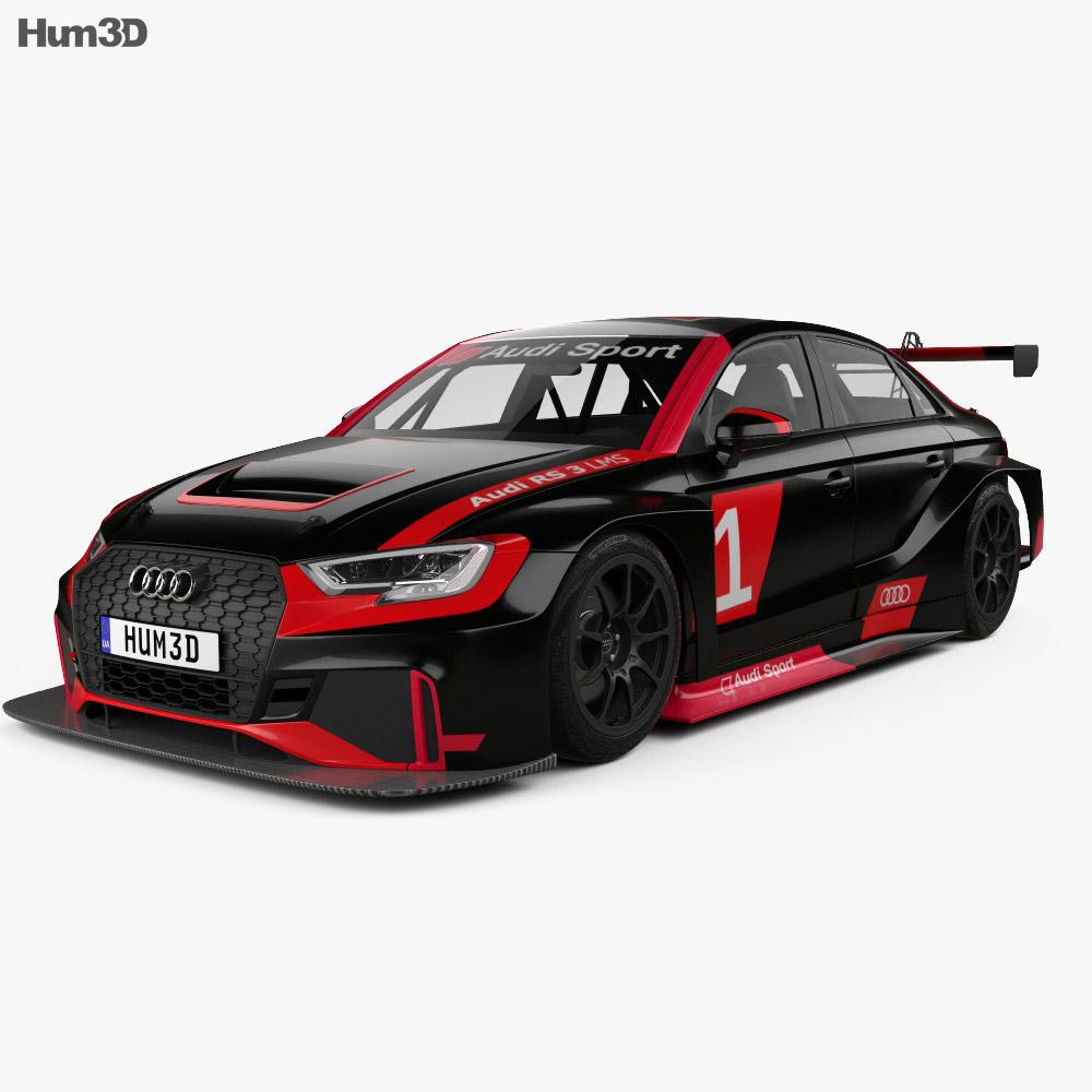 Audi RS3 LMS 2017 3d model