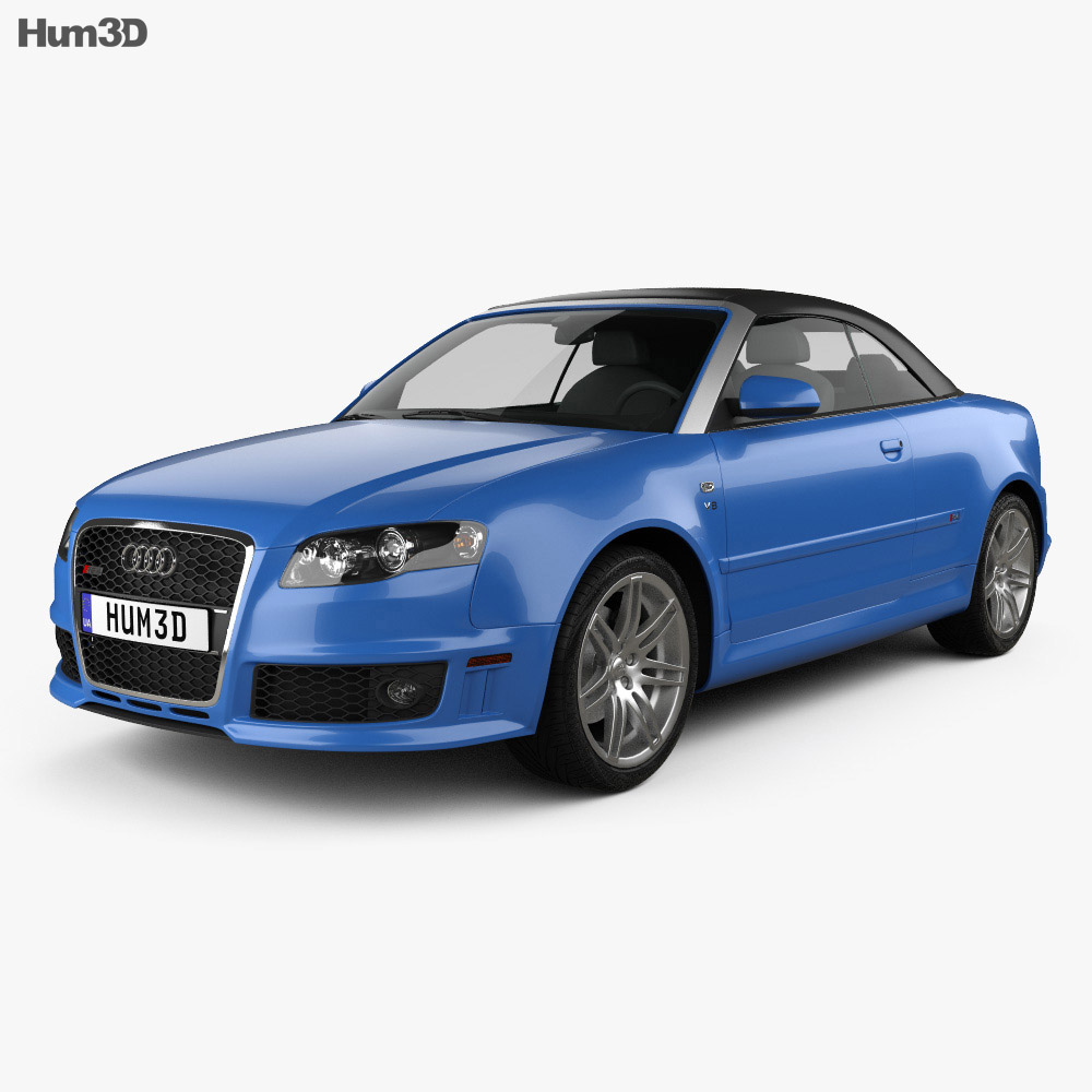 Audi Convertibles 2018: Audi RS 4 Convertible 2006 3D Model