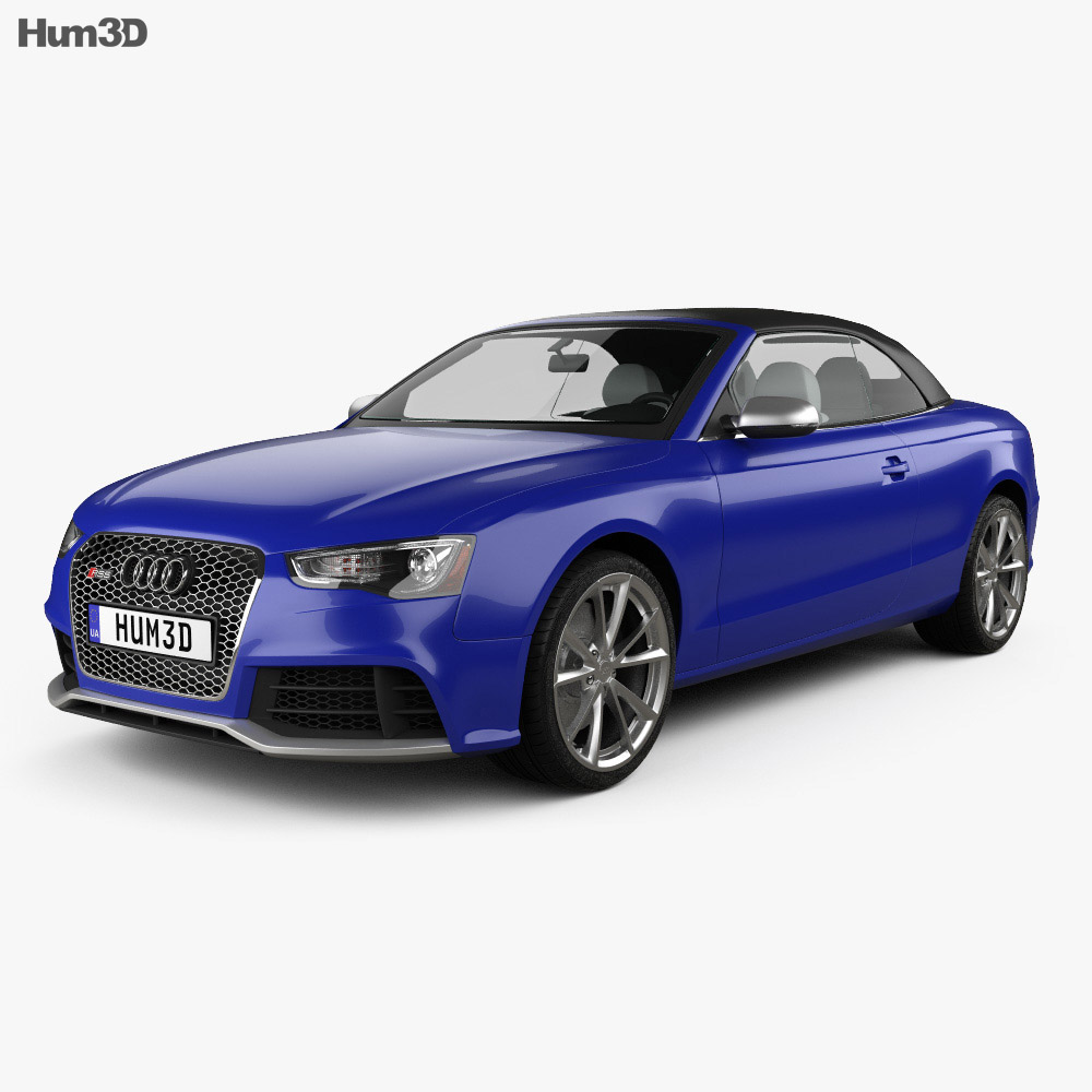 3D model of Audi RS5 cabriolet 2012