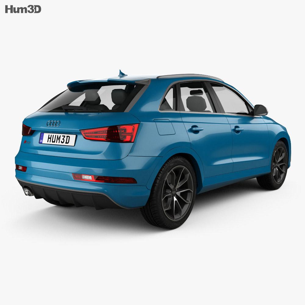 Audi RS Q3 Performance 2017 3d model back view