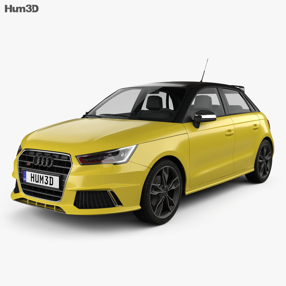 audi s1 sportback 2014 3d model hum3d. Black Bedroom Furniture Sets. Home Design Ideas