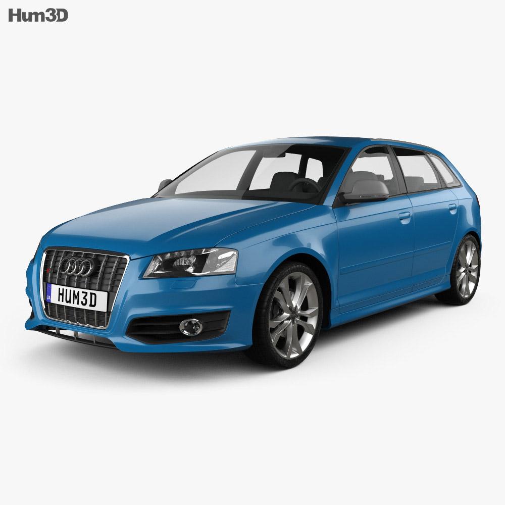 audi s3 sportback 2008 3d model vehicles on hum3d. Black Bedroom Furniture Sets. Home Design Ideas