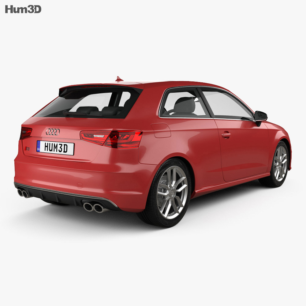 audi s3 3 door 2014 3d model vehicles on hum3d. Black Bedroom Furniture Sets. Home Design Ideas