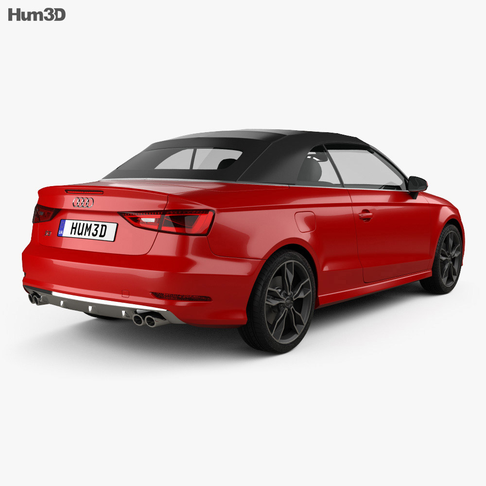 audi s3 cabriolet 2014 3d model vehicles on hum3d. Black Bedroom Furniture Sets. Home Design Ideas