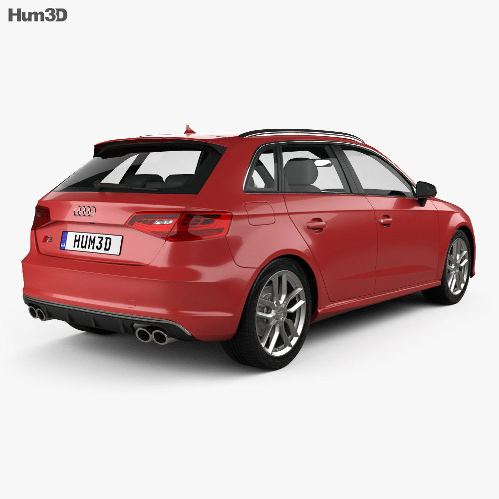 audi s3 sportback 2014 3d model vehicles on hum3d. Black Bedroom Furniture Sets. Home Design Ideas