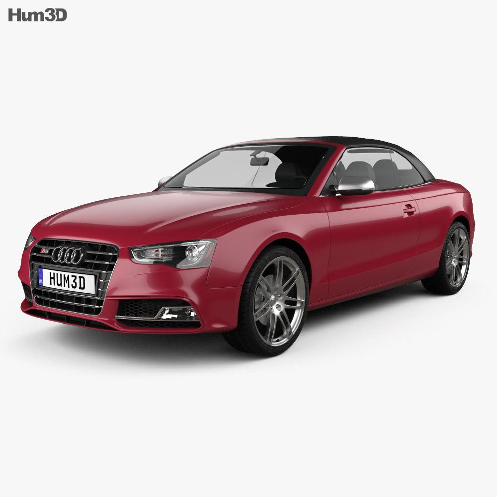 Audi S5 cabriolet 2012 3d model