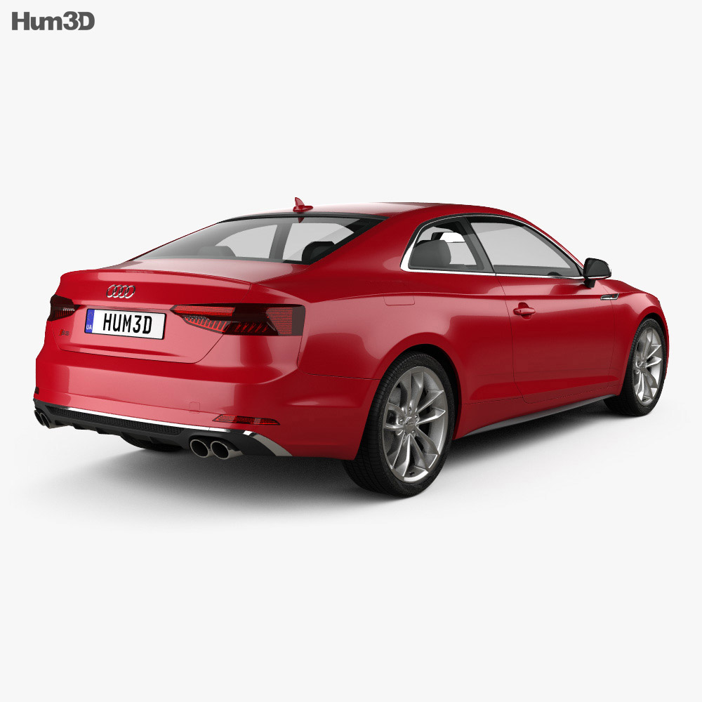 audi s5 coupe 2017 3d model hum3d. Black Bedroom Furniture Sets. Home Design Ideas