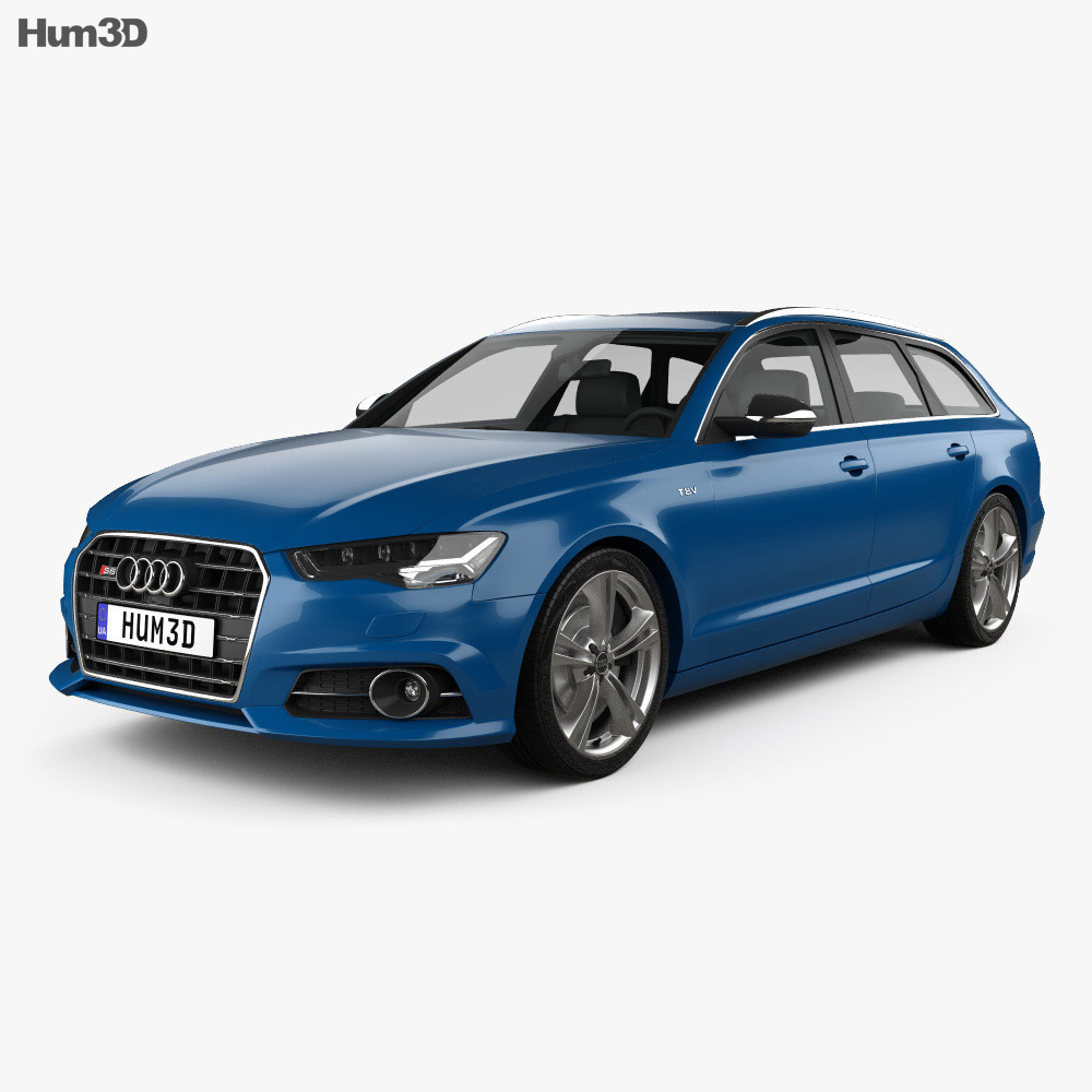 audi s6 c7 avant 2014 3d model humster3d. Black Bedroom Furniture Sets. Home Design Ideas