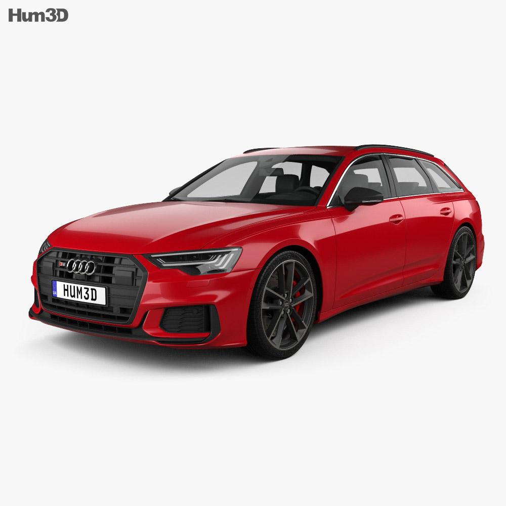 Audi S6 avant 2019 3d model