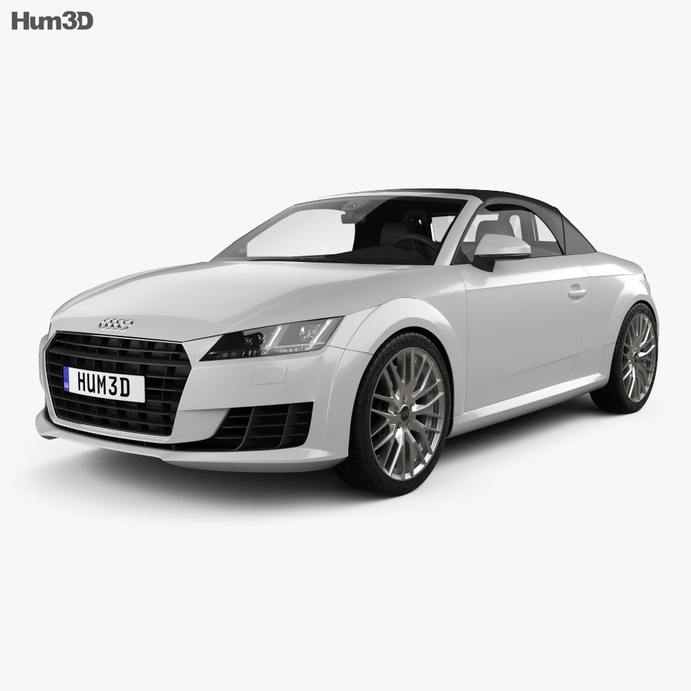 audi tt 8s roadster 2014 3d model hum3d. Black Bedroom Furniture Sets. Home Design Ideas
