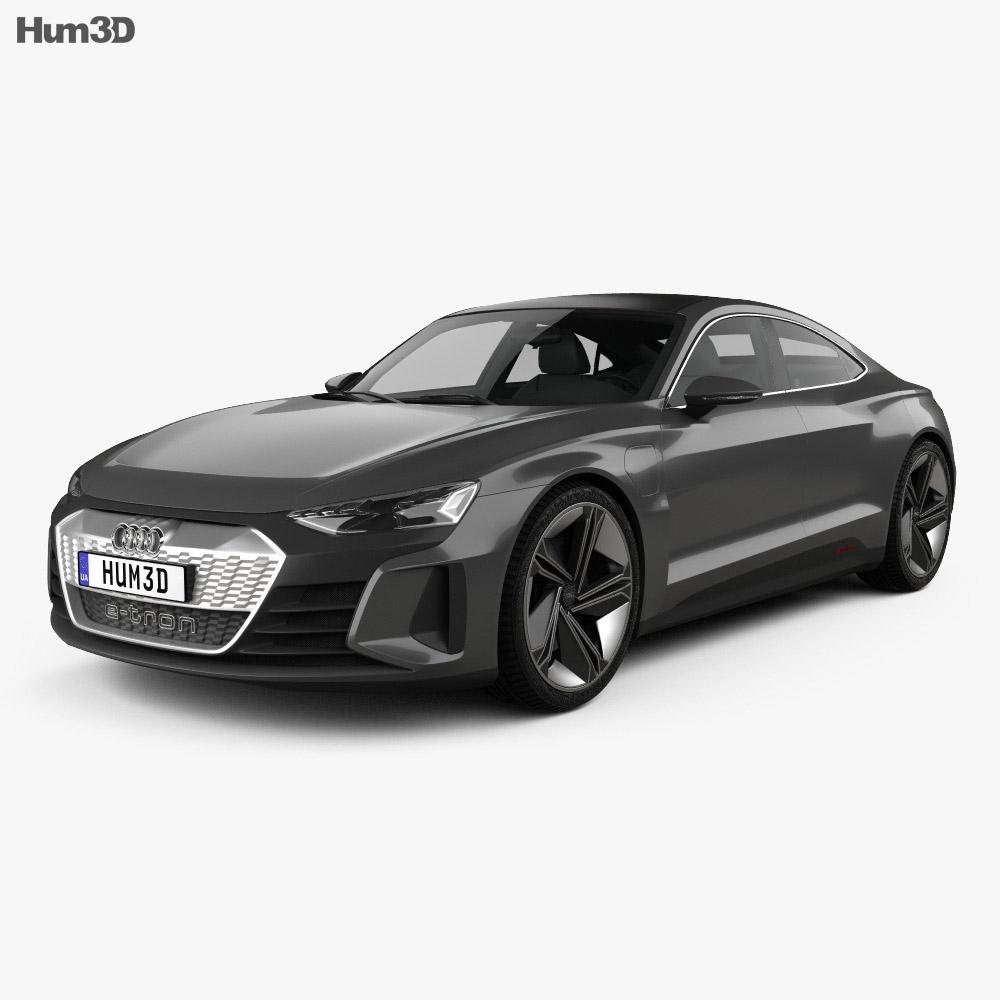 Audi e-tron GT 2018 3d model
