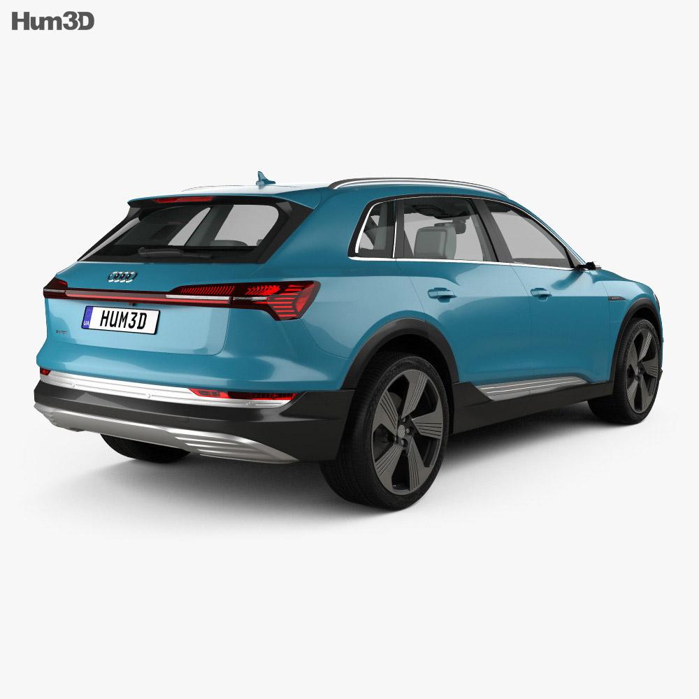Audi e-tron with HQ interior 2019 3d model