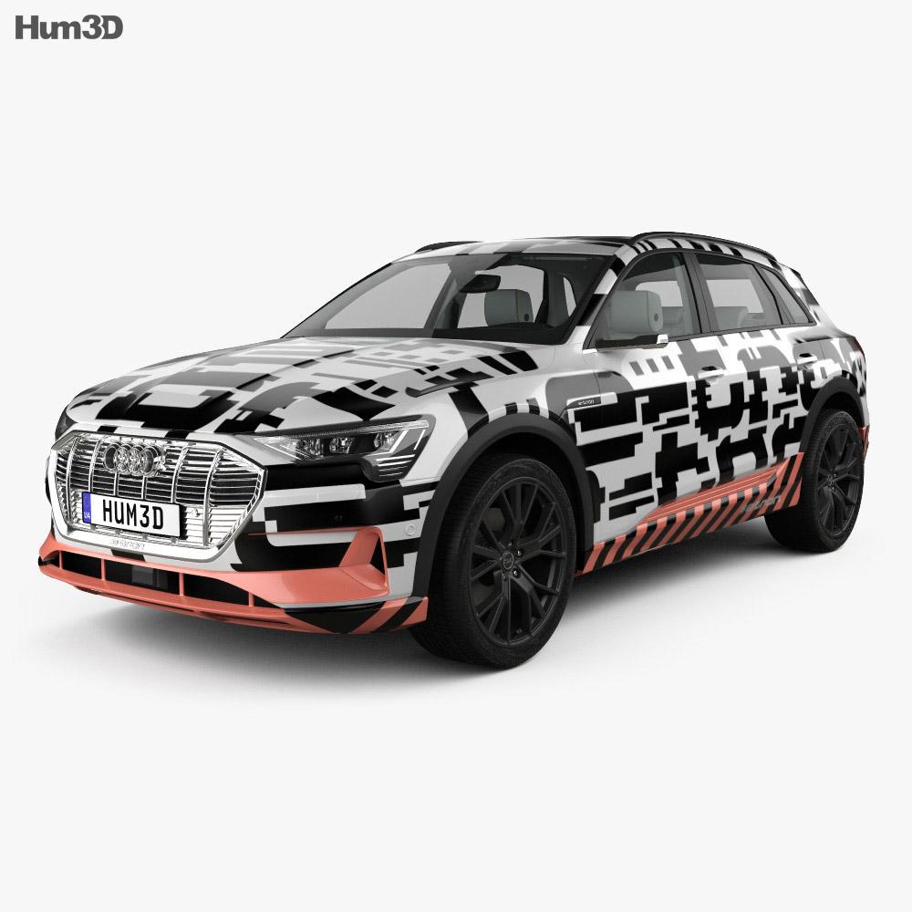 Audi e-tron Prototype with HQ interior 2018 3d model
