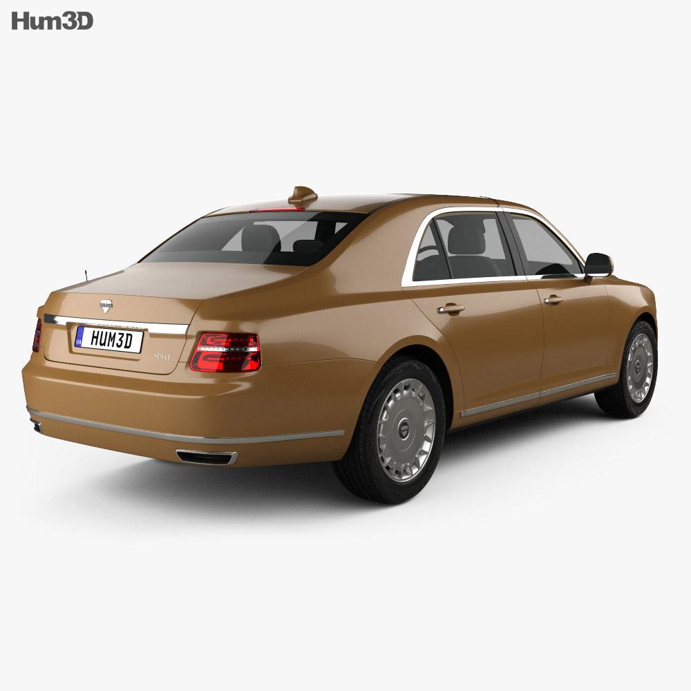 Aurus Senat sedan 2018 3d model