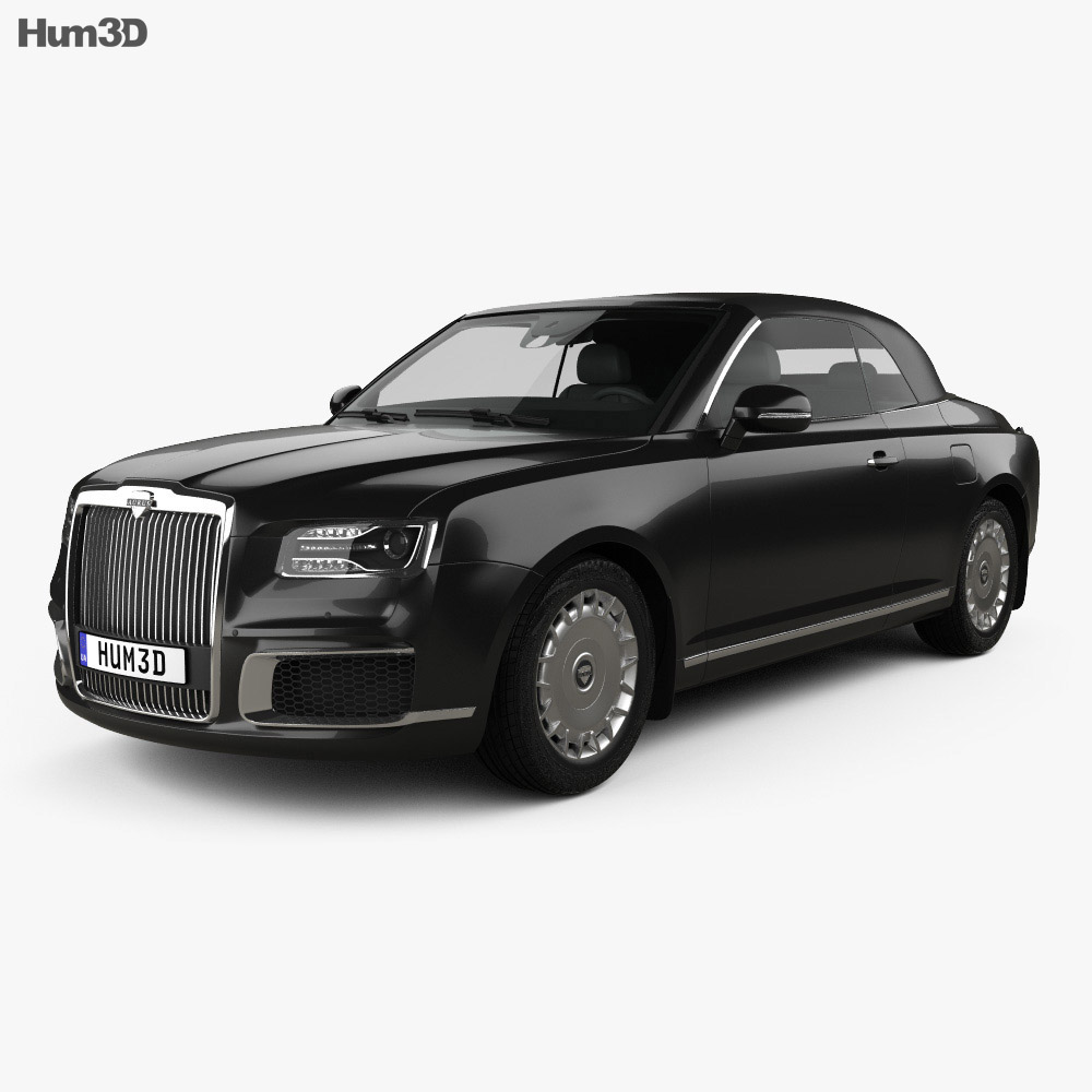 3D model of Aurus Senat convertible 2019