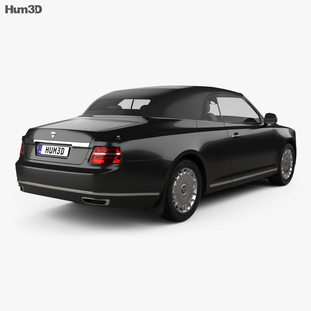 Aurus Senat convertible 2019 3d model