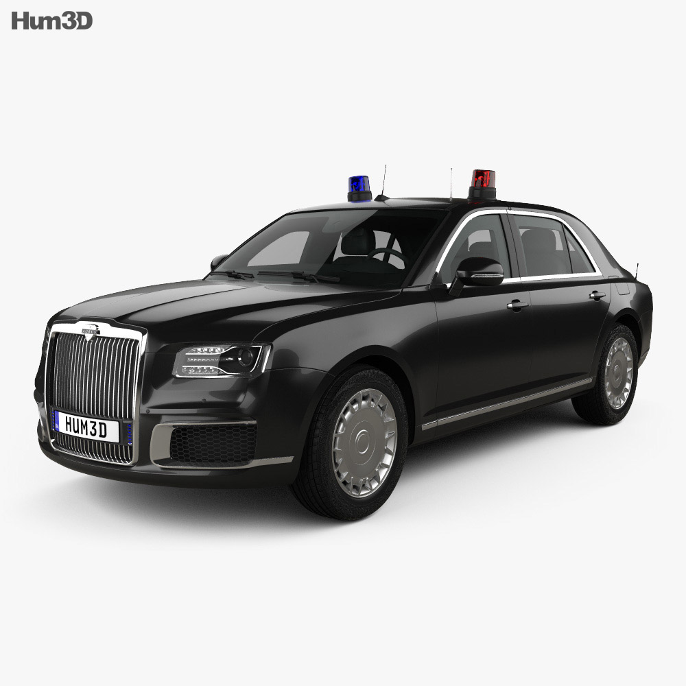3D model of Aurus Senat Guard sedan 2018
