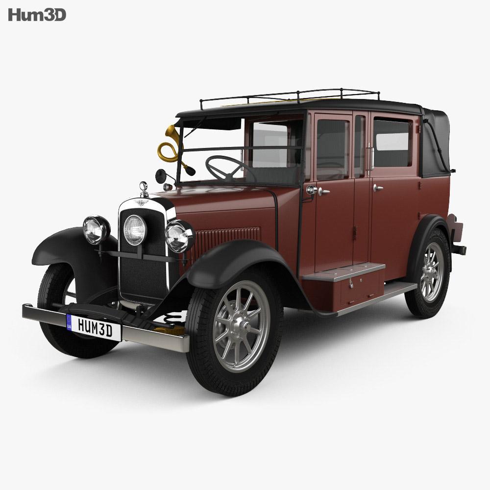 Austin 12/4 Taxi 1935 3d model