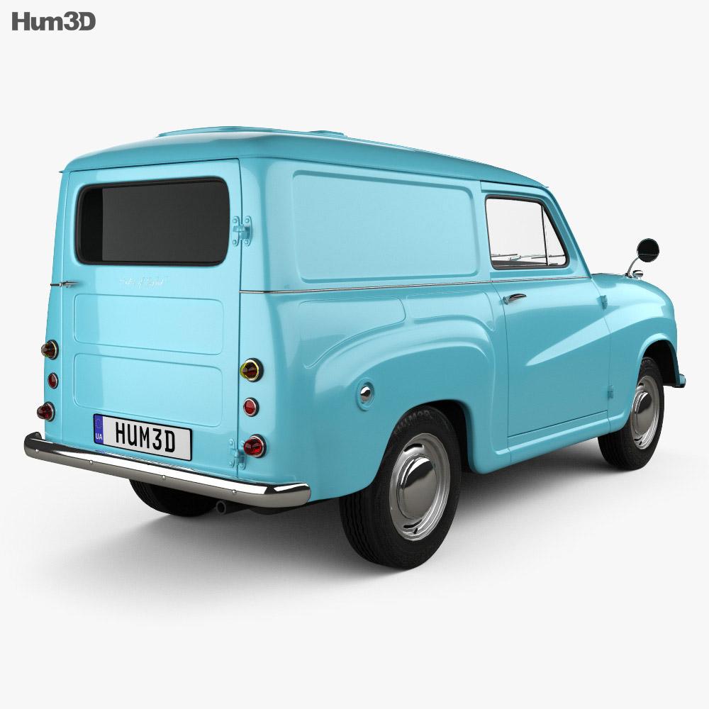 Austin A35 Van 1956 3d model back view