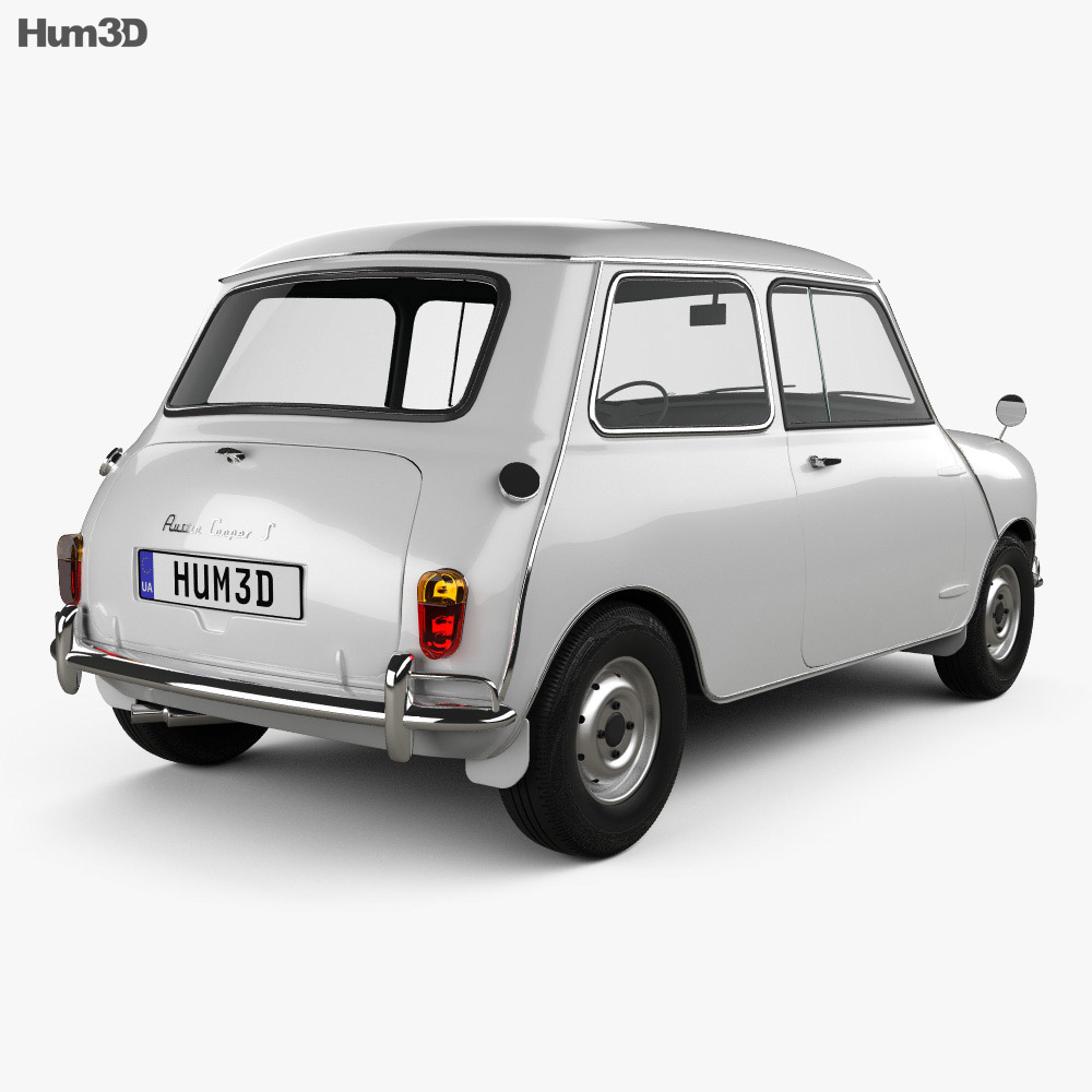 austin mini cooper s 1964 3d model vehicles on hum3d. Black Bedroom Furniture Sets. Home Design Ideas