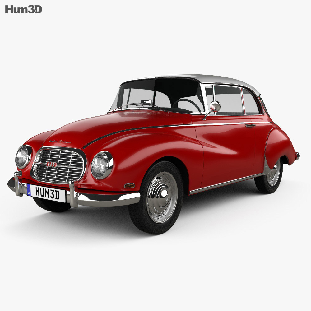 Auto Union 1000 S coupe de Luxe 1959 3d model