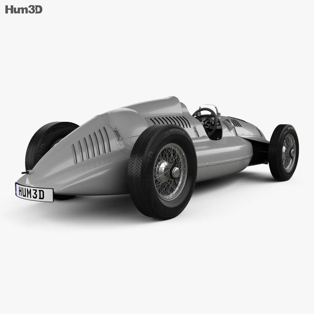 Auto Union Type D 1938 3d model