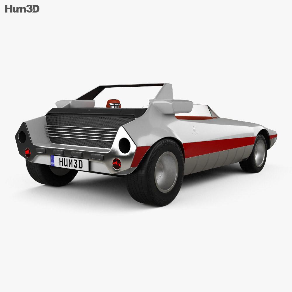 Autobianchi Runabout Bertone 1969 3d model