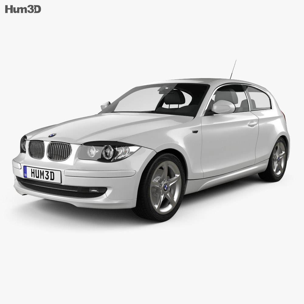 BMW 1 Series 3-door 2009 3d model