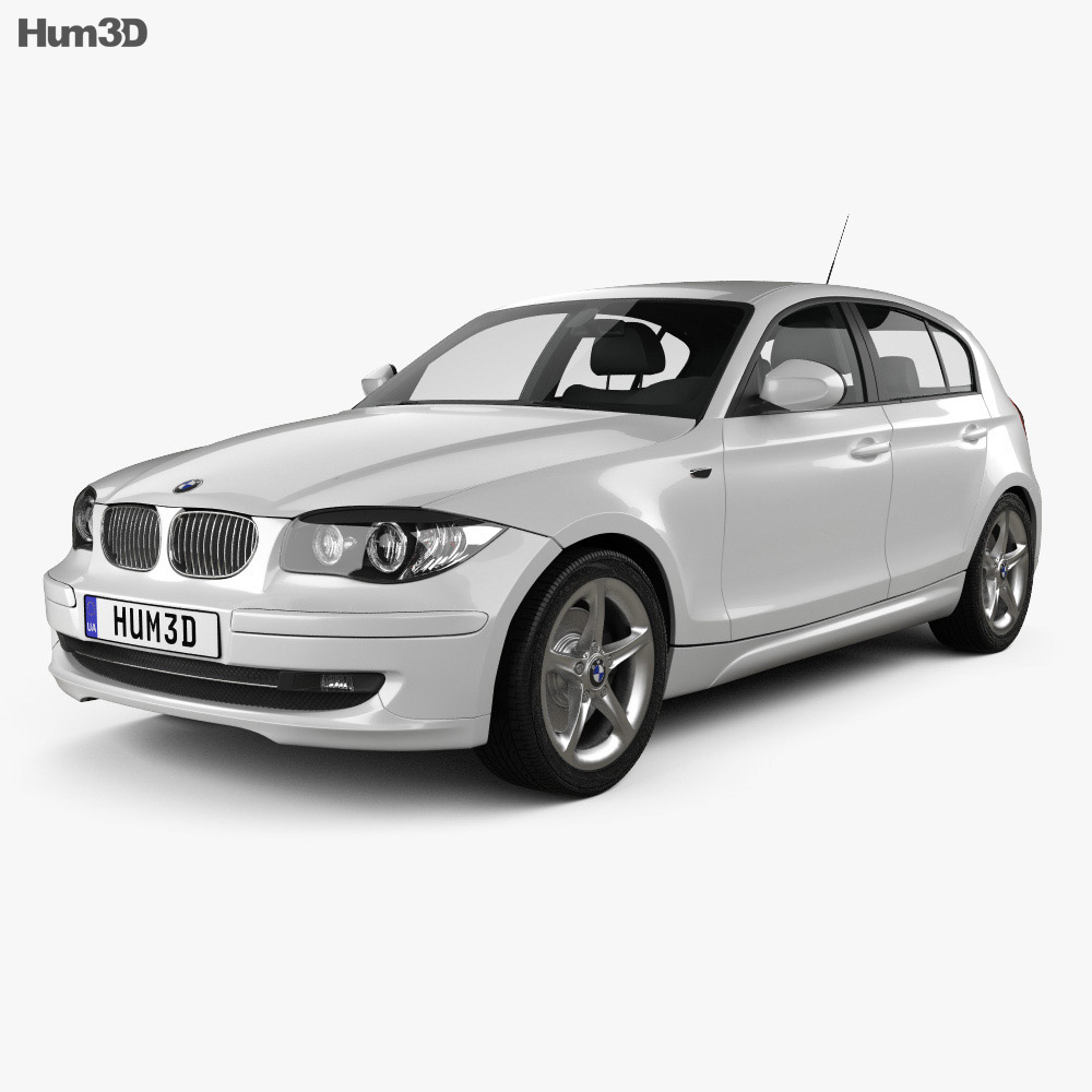 BMW 1 Series 5-door 2009 3d model