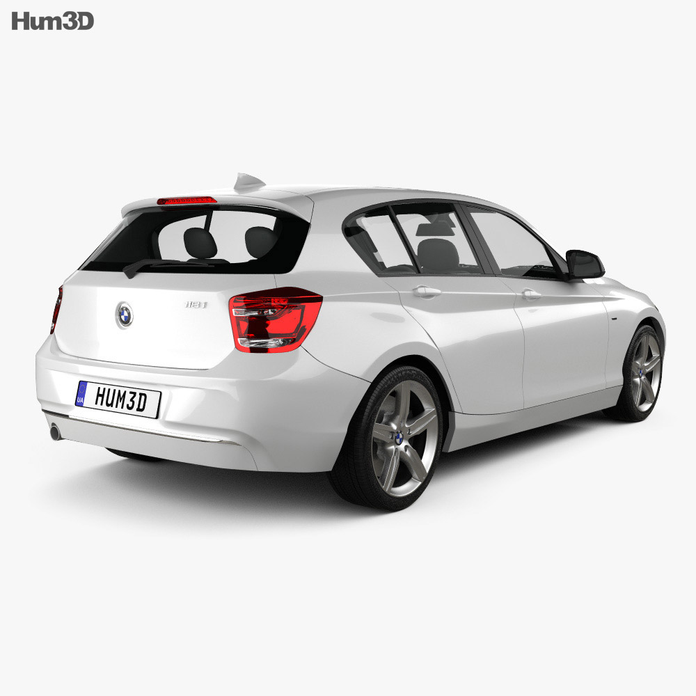 BMW 1 Series (F20) 5-door 2011 3d model