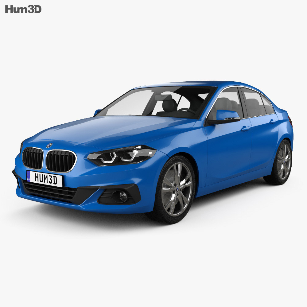 bmw 1 series f52 sport line sedan 2017 3d model hum3d. Black Bedroom Furniture Sets. Home Design Ideas