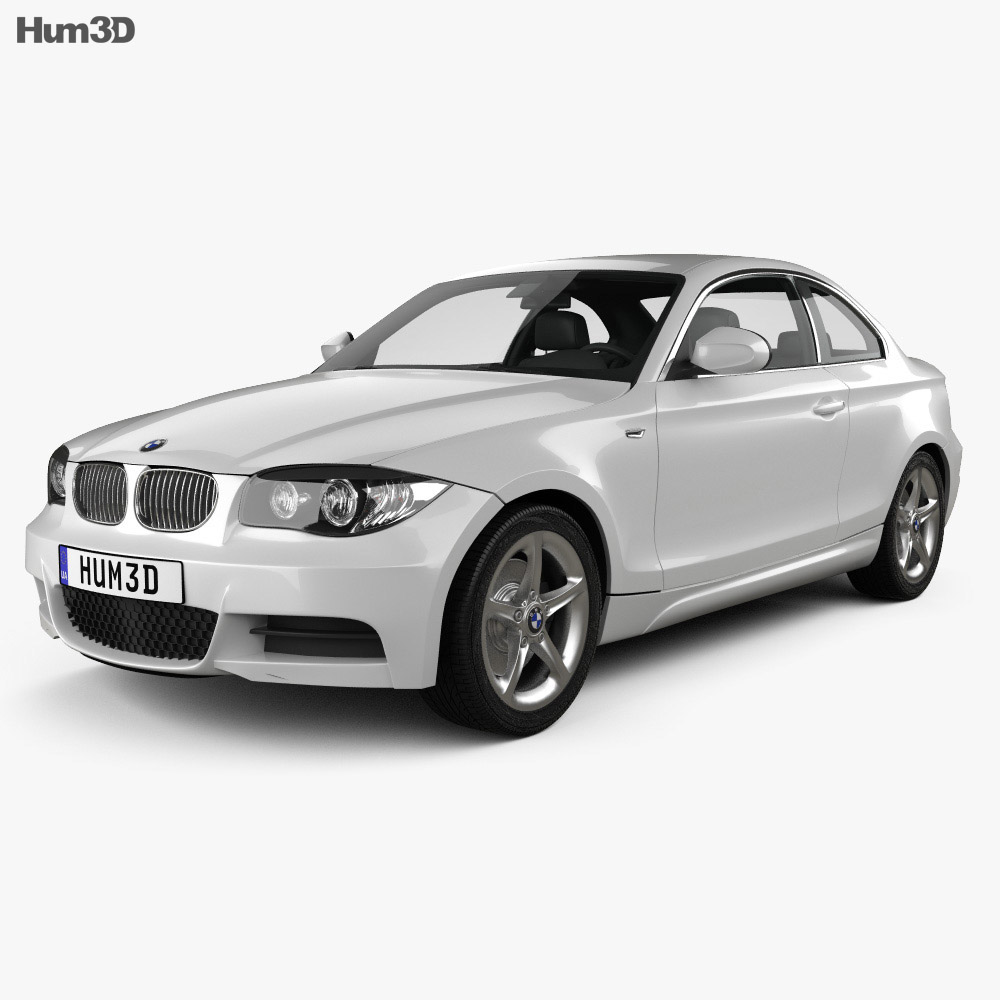 2008 Bmw 3 Series Exterior: BMW 1 Series Coupe With HQ Interior 2007 3D Model