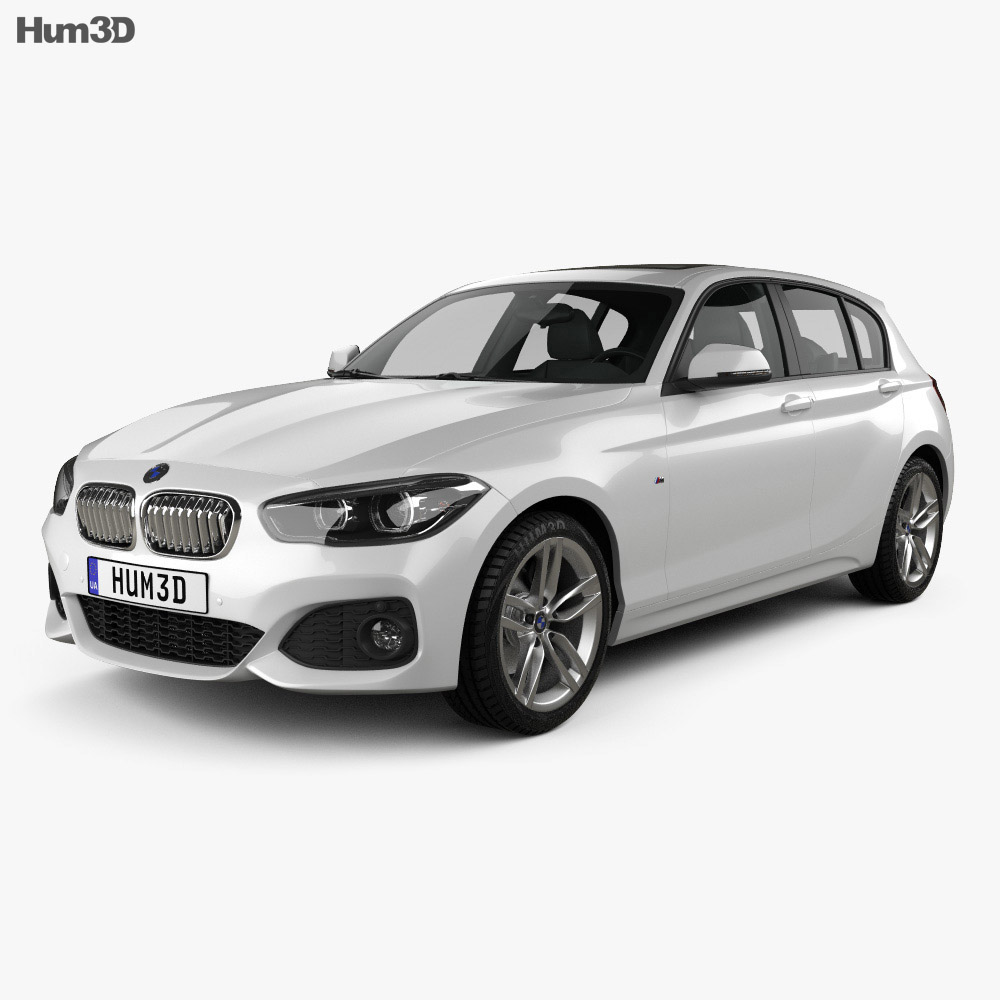 bmw 1 series f20 5 door m sport package 2015 3d model hum3d. Black Bedroom Furniture Sets. Home Design Ideas