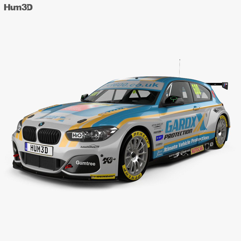 bmw 1 series btcc 2016 3d model hum3d. Black Bedroom Furniture Sets. Home Design Ideas