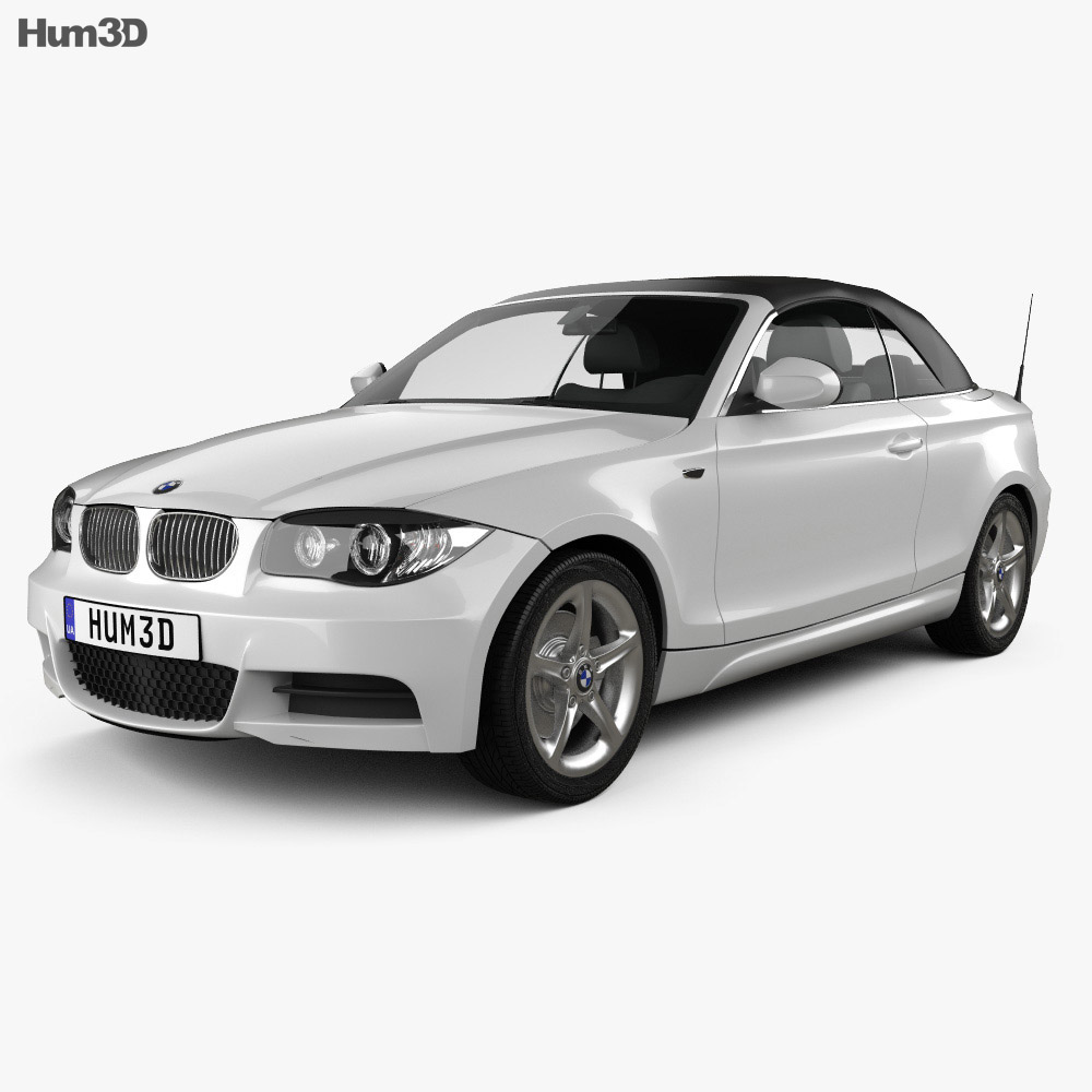 BMW 1 Series convertible 2009 3d model