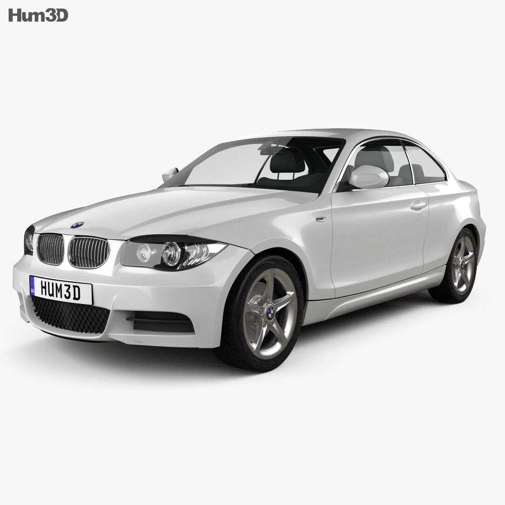 BMW 1 Series 3-door coupe 2009 3d model
