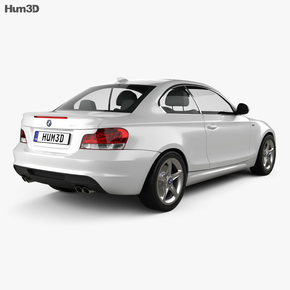 BMW 1 Series 3-door coupe 2009 3d model