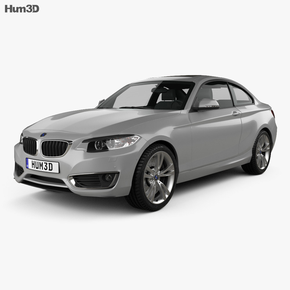 bmw 2 series coupe f22 2014 3d model hum3d