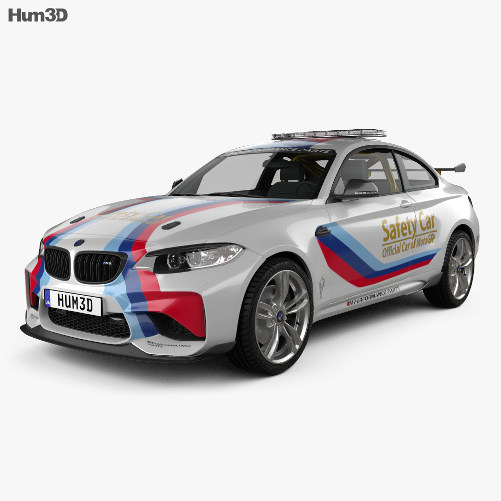 BMW M2 (F22) Coupe MotoGP Safety Car 2016 3d model