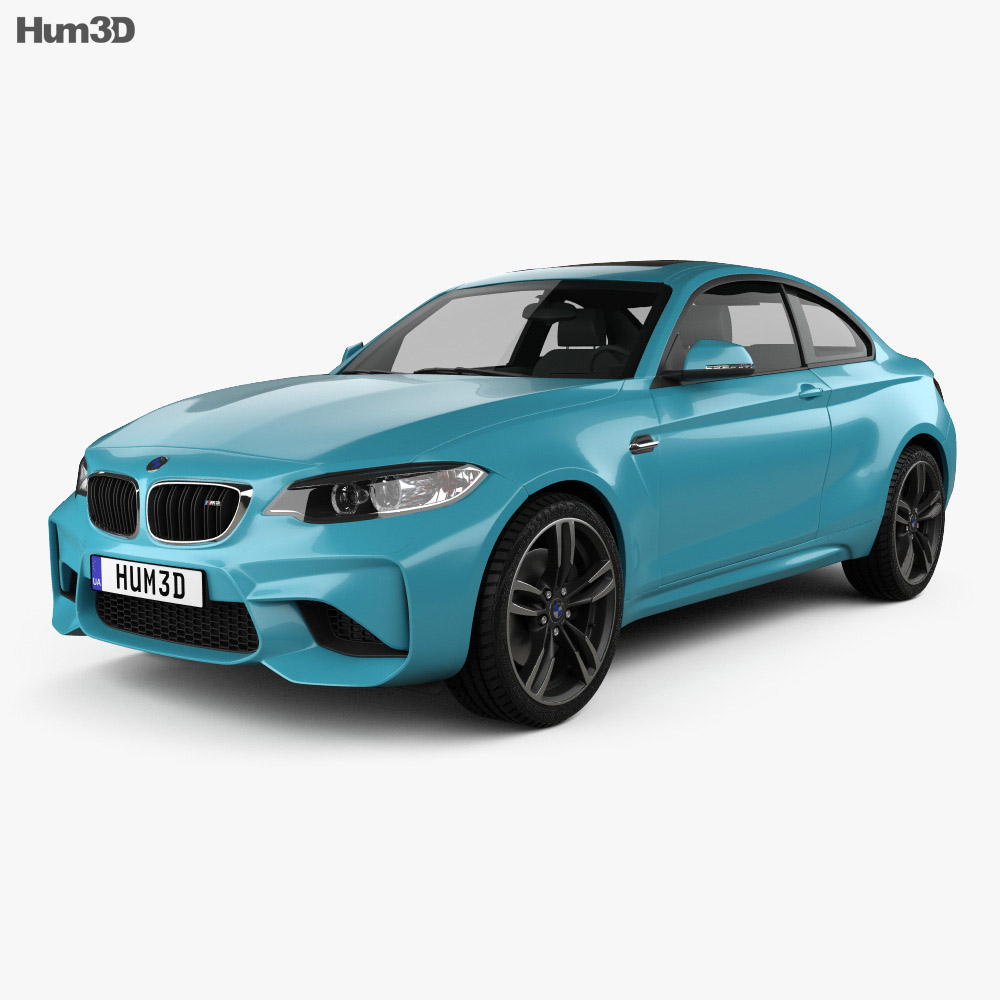 bmw 2 series m2 f87 coupe 2015 3d model humster3d. Black Bedroom Furniture Sets. Home Design Ideas
