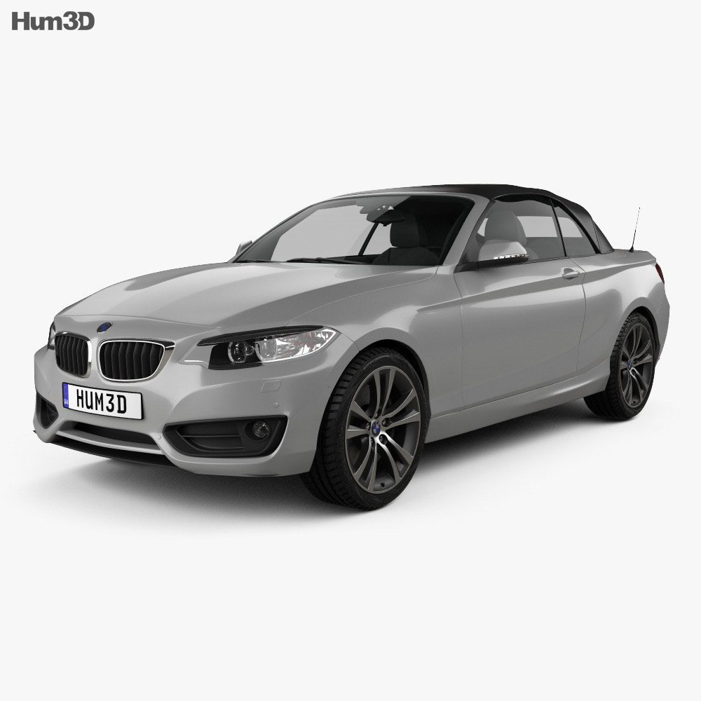 BMW 2 Series Convertible 2014 3D Model