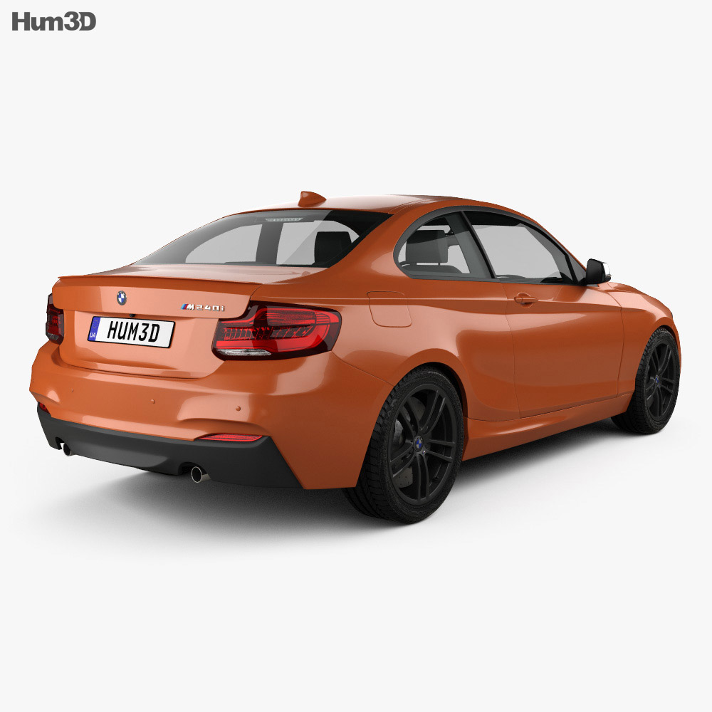BMW 2 Series (F22) M240i coupe 2017 3d model