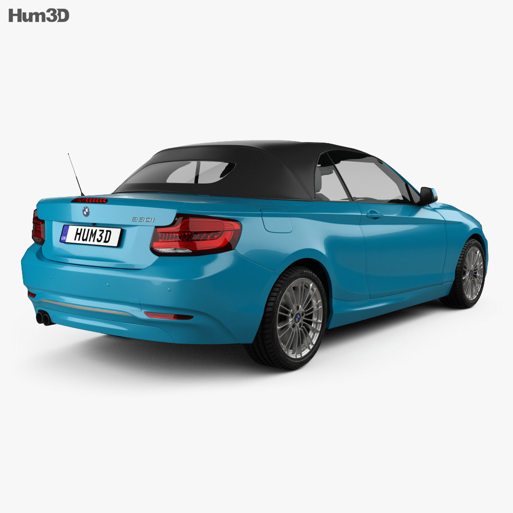 BMW 2 Series (F23) Luxury Line convertible 2017 3d model