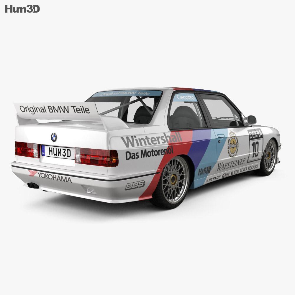 BMW M3 E30 DTM 1992 3d model