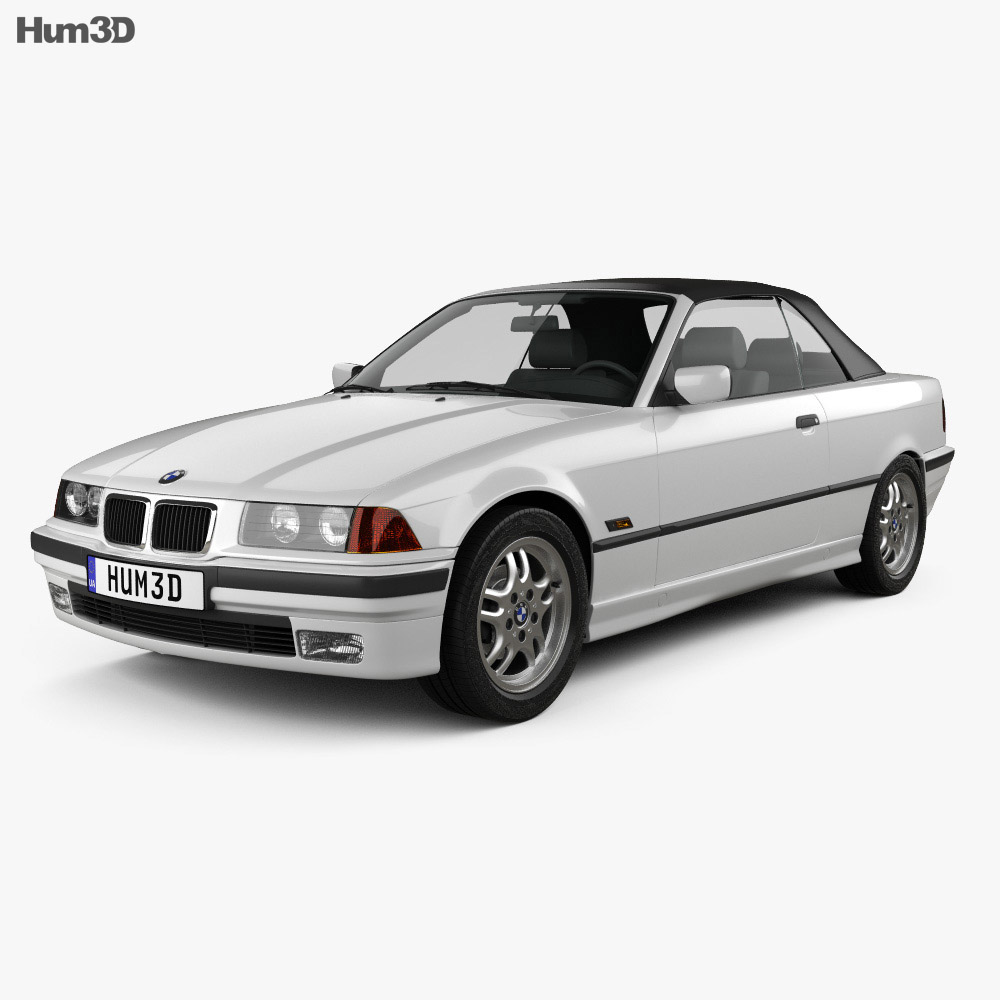 BMW 3 Series (E36) convertible 1994 3d model