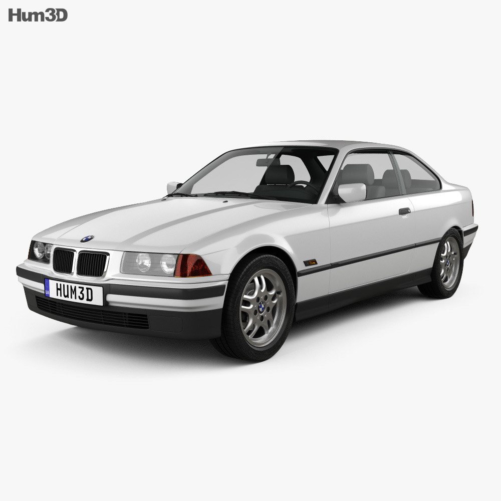 bmw 3 series e36 coupe 1994 3d model vehicles on hum3d. Black Bedroom Furniture Sets. Home Design Ideas