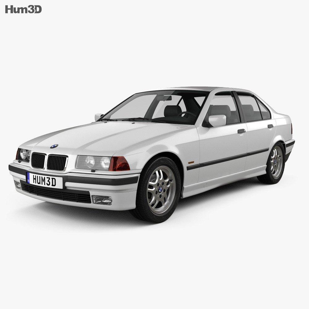 bmw 3 series e36 sedan 1994 3d model hum3d. Black Bedroom Furniture Sets. Home Design Ideas