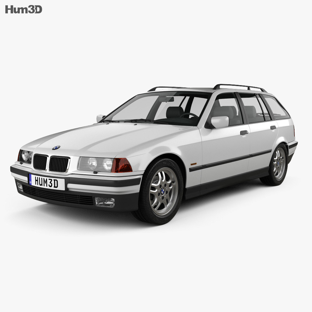 bmw 3 series e36 touring 1994 3d model hum3d. Black Bedroom Furniture Sets. Home Design Ideas